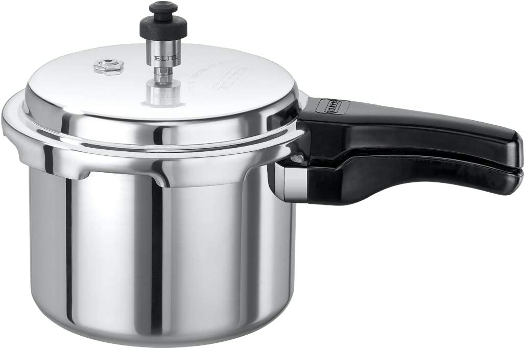 Elite Cookware - Small Aluminum Outerlid Stovetop Pressure Cooker - 3.5 Lts - Cook soups, rice, legumes and more