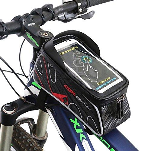 West Biking wasserabweisend Fahrrad vorne Top Tube Tasche Rahmen mit Paar 14cm Handy Touchscreen