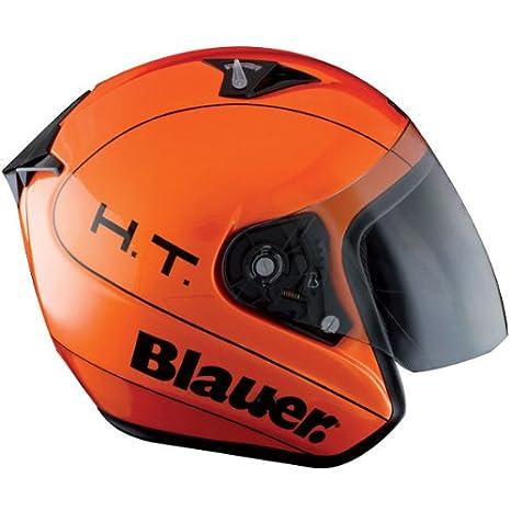 Blauer Trooper Casco jet Arancione: Amazon.it: Auto e Moto
