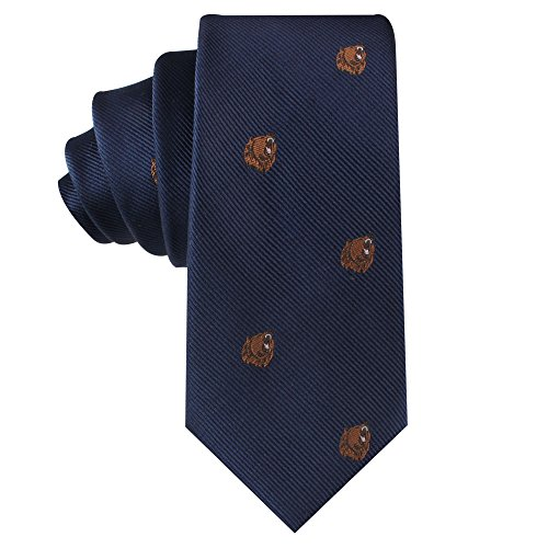 Bear Tie | Bear Market Wall Street Ties | Banker Gift for Men | Work Ties for Him | Birthday Gift for Guys (Brown Bear) by AUSCUFFLINKS (Image #5)