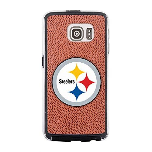 NFL Pittsburgh Steelers Classic Football Pebble Grain Feel No Wordmark Samsung Galaxy S6 Case, - Steelers Case Pittsburgh Football Brown