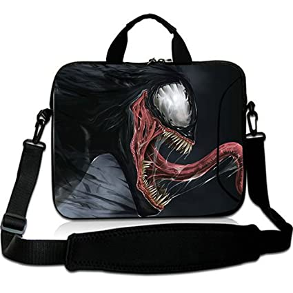 Venta caliente 13 pulgadas portátil bolsa de transporte con para el hombro ajuste Venom Marvel Comics
