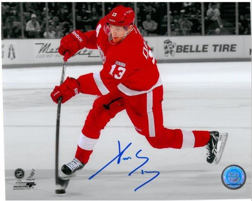 Pavel Datsyuk Autographed Detroit Red Wings 8x10 Photo #8 - Spotlight