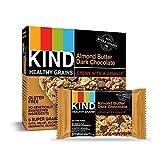 KIND Healthy Grains Granola Bars, Almond Butter Dark Chocolate, Gluten Free, 1.2 oz, 40 Count
