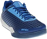 AND1 Men's Ascender Low Basketball Shoe,Marina/True Navy/Bright White,US 9 M