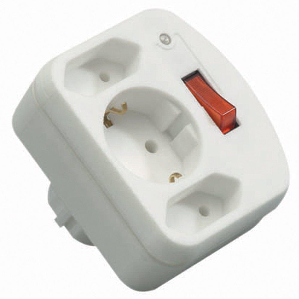 wei/ß REV Ritter 00135501 /ÜSS Adapter mit Schalter 2+1