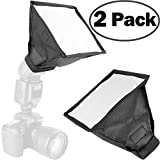 2Pack ChromLives Flash Diffuser Light Softbox Collapsible with Storage Pouch 6''x 6.8'' for DSLR Camera Canon Nikon Yongnuo Flash Speedlight and Other DSLR Camera Flashes
