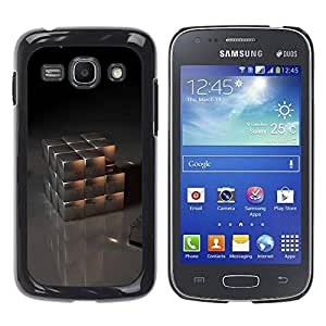 Paccase / SLIM PC / Aliminium Casa Carcasa Funda Case Cover para - Metal Cube - Samsung Galaxy Ace 3 GT-S7270 GT-S7275 GT-S7272