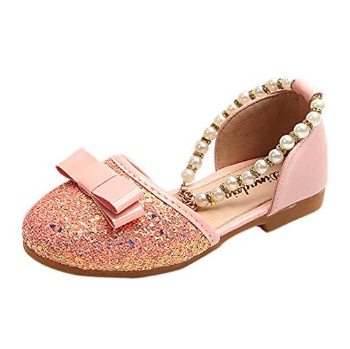 IGEMY Kleine Mädchen Mode Prinzessin Dance Leder Casual einzelne Schuhe Rosa