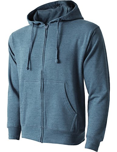 Heavyweight Hat (Hat and Beyond HC Mens Zip Up Fleece Hoodie Sweatshirts Heavyweight Long Sleeve Active Jackets (X-Large, ams21_headenm))