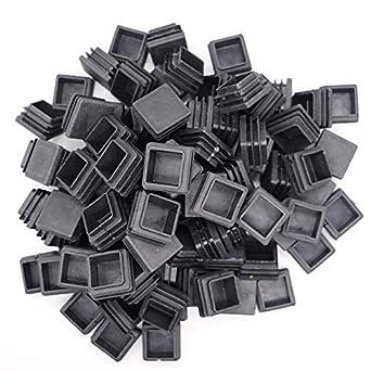100pcs Square Plastic Plug,Plastic Plugs//End Caps// 1//2 Inch Square Tubing End Caps//Plastic Plugs for Fence Post Pipe Cover Tube Chair Glide Insert Finishing Plug