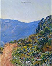 la Corniche Near Monaco Claude Monet Sketchbook: Premium Cover Notebook, Diary, Sketchbook, for Doodling, Knitting Crocheting Patterns, Sketching, Typography, Calligraphy, Drawing, Writing, Awesome Gift Idea for Women, Men, Children, Kids, Girls and Boys