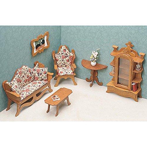 Greenleaf Living Room Furniture Kit Set - 1 Inch Scale