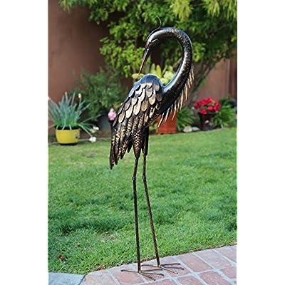 Wonders Shop Outdoor/Indoor Accent Metal Bronze Herons Patina Cranes 43