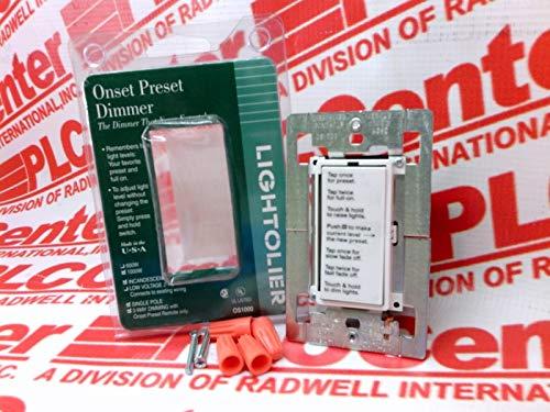 LIGHTOLIER OS1000-WC DIMMER Switch Onset/PRESET 1000W 1POLE 3WAY DIM