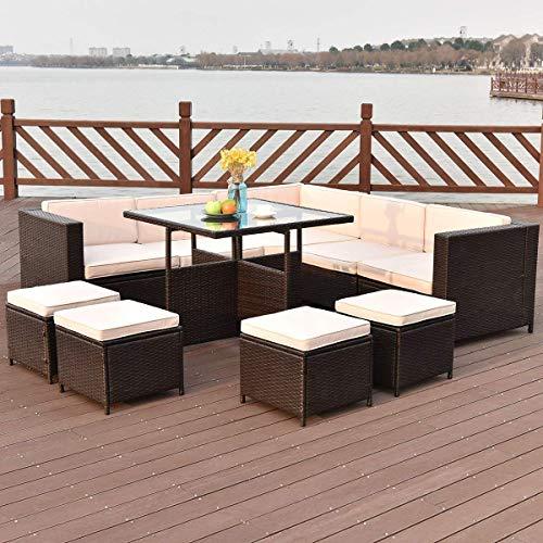 wicker furniture set conversation
