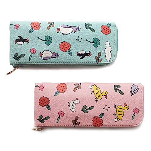 Pencil Pouch, Cute Pencil Case, Simple&Light Pencil Bag by Twinkle(2Pack,7.2