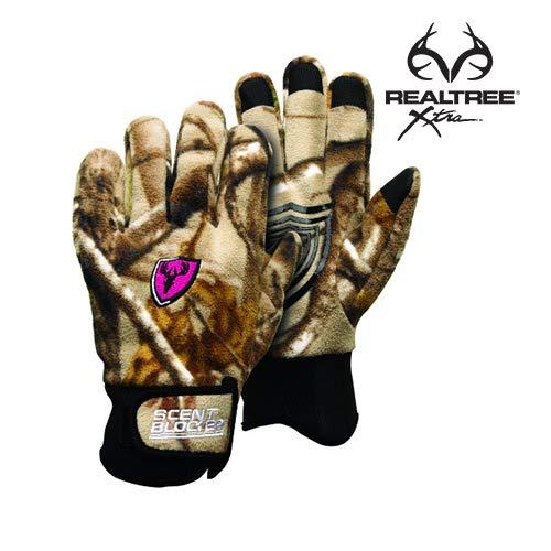 Scent Blocker Ladies Pro Grip Gloves (Realtree Xtra) by Scent Blocker
