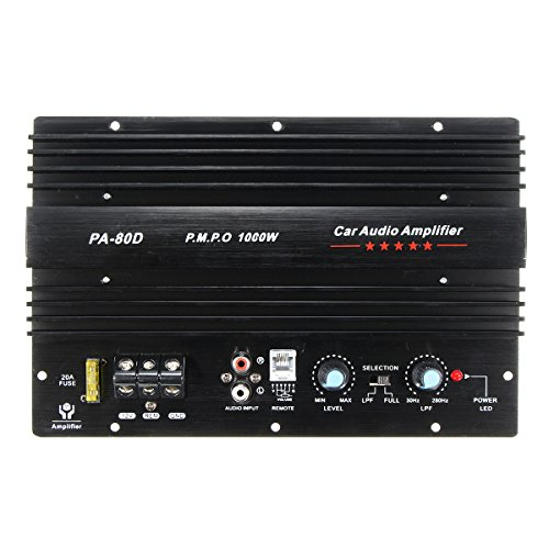 JenNiFer 12V 1000W Mono Car Audio Power Amplifier Powerful Bass Subwoofers Amp: