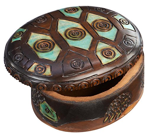 - Oval Turtle Shell Box Polish Handmade Keepsake Linden Wood Jewelry Box