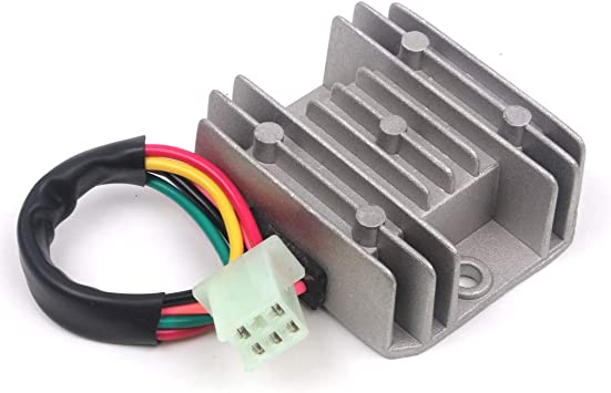 5 wires 12v voltage regulator rectifier motorcycle dirt bike atv gy6 50  150cc scooter moped jcl nst taotao, electrical - amazon canada  amazon.ca