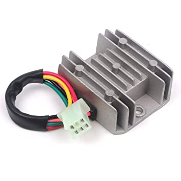 Amazon com: 5 Wires 12V Voltage Regulator Rectifier