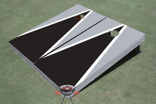 ブラックとグレーMatching三角形Corn穴ボードCornhole Game Game Set Set B00CO9P5U0, fashion-labo(ファッションラボ):038270a8 --- gamenavi.club