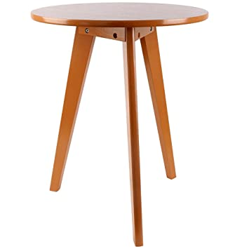 Awesome Three Legged Solid Wood End Table, Elegant Round Coffee Table,  Environmental Protection Material Modern