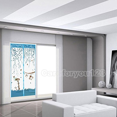 magnetic-mesh-door-curtain-magic-snap-fly-bug-insect-mosquito-screen-net-guard-blue-100cm210cm-39382