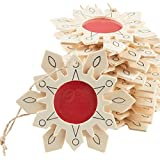 Factory Direct Craft 12 Unfinished Wood Snowflake Christmas Ornaments with Photo Insert