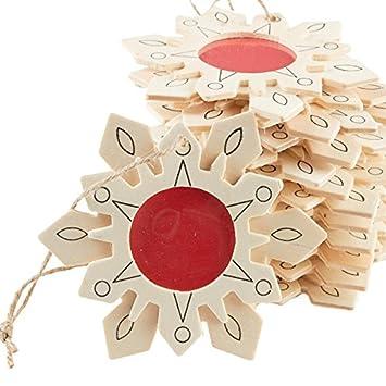 Amazoncom Factory Direct Craft 12 Unfinished Wood Snowflake
