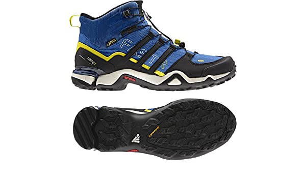 fe330ef8d Adidas Terrex Fast R Mid GTX Boot - Men s Blue Beauty Black Vivid Yellow  8.5  Amazon.ca  Shoes   Handbags