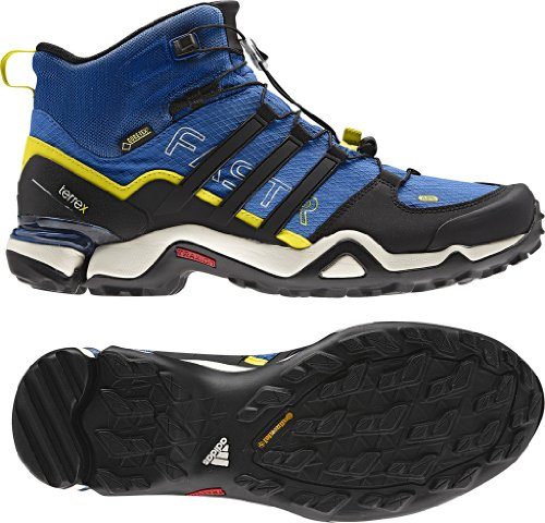 Adidas Terrex Fast R Mid GTX Boot - Men's Blue Beauty/Black/Vivid Yellow 8.5