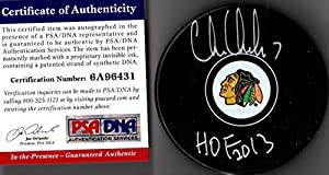 "PSA/DNA Chris Chelios ""HOF 2013"" Autographed Signed Chicago Blackhawks Puck"