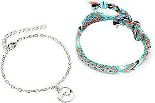 Austinstore 1Set Women Ethnic Handmade Weave Multilayer Wave Anklet Summer Beach Jewelry - Multicolor