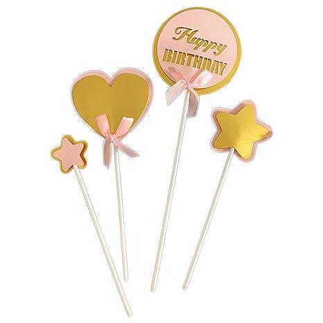 Topper de pastel personalizado, Letras de oro brillo, Feliz ...
