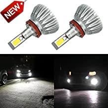 Zdatt H11 H8 H16 High Power Fog Bulbs 60W Extremely Bright 6000K LED Lights Bulbs 3000LM DRL , Fog Lights or Low Beam Headlights for Car Truck Lamp Replacement, Xenon White-2 Pack