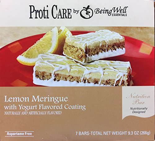 Proti Care Protein Bars - 10grams protein - 7 servings (Lemon Meringue) by Being Well Essentials