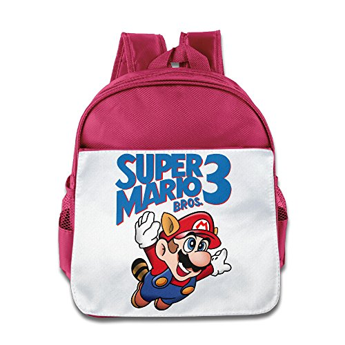 Kids Super Mario Bros 3 Book Bag Child Little Girls Boys Pink - Lil Wayne Net