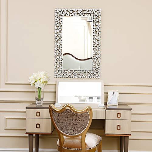 KOHROS Large Antique Wall Mirror Ornate Glass Framed Venetian Decor Mirror Bedroom,Bathroom, - Beveled Mirrors Fancy For Bathroom