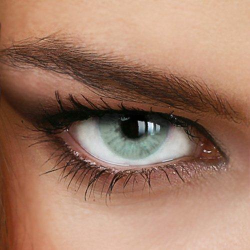 Farbige Jahres-Kontaktlinsen Naturally SWEET GRAY - OHNE Stärke in GRAU - von LUXDELUX® - (+/- 0.00 DPT)