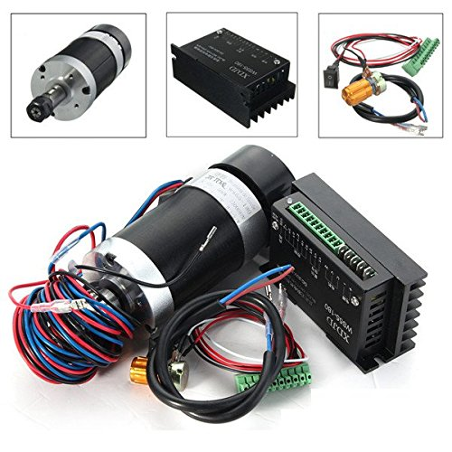 LEEPRA 400W 12000rpm ER11 Brushless Spindle Motor with Driver Speed Controller for Engraving CNC Tool