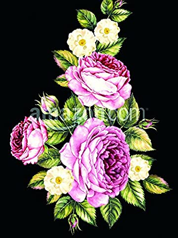 Bouquet of rose. Invitation card for wedding, birthday and other holiday and summer background. Botanical illustration. Poster Print, 18