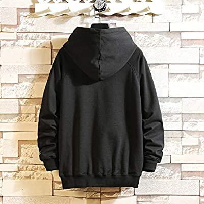 Hoodies for Men Pullover Graphic Letter Printed Comfortable Autumn Japanese Style Hooded Sweatshirts: Clothing