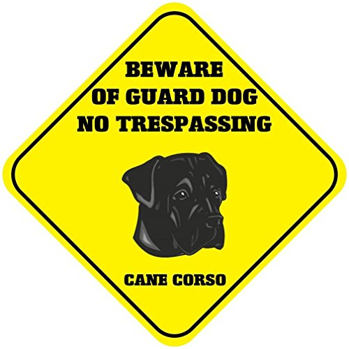 Cane Corso Beware of Guard Dog No Trespassing Crossing Novelty SignVinyl Sticker Decal 8