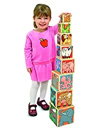 Melissa & Doug Wooden Animal Nesting Blocks - 8 Blocks Stack to Almost 3 Feet Tall BOBEBE Online Baby Store From New York to Miami and Los Angeles