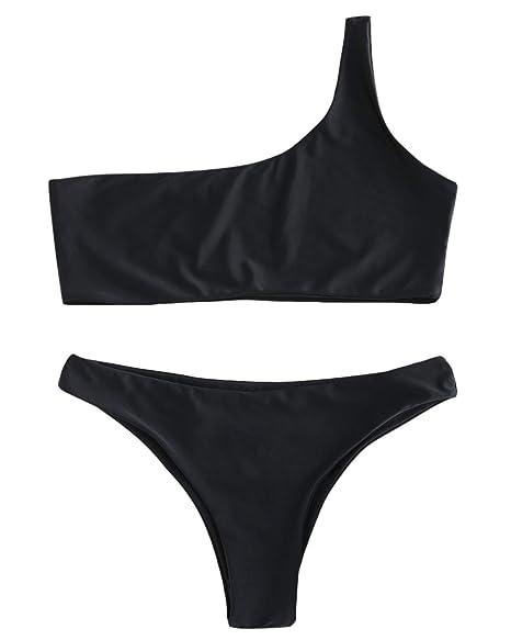 Amazon.com: ZAFUL traje de baño de dos piezas para mujer con ...