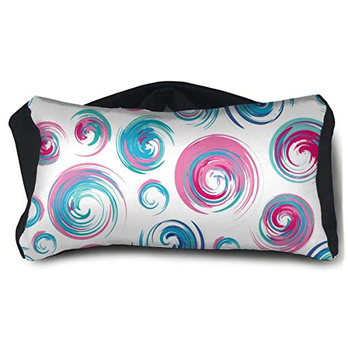 Portable Eye Pillow Sleep Eye Mask Pillow Swirls Drawn Seamless Swirl Pillow Masks for Home Office Outdoor Travel 15 X25 cm ()