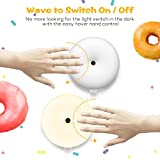 Night Lights for Kids, VAVA Baby Night Light, Bedside Lamp, Gesture Control Light, Safe ABS and PC Plastic Material, Eye-Caring LED, 120H Runtime, Sweet Doughnut-Shape