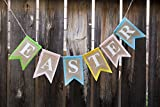"""Easter Banner - Burlap Colorful Garland 72"""" - Partay Bunny by Partay Shenanigans"""